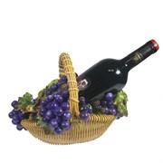 Подставка под бутылку Корзина с виноградом цвет: акрил L26.5W20H19 см