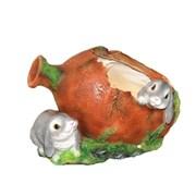 Кашпо декоративное Два зайца у кувшина L26W18H18 см.