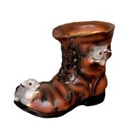 Кашпо декоративное Ботинок с мышками L22W13H18 см.
