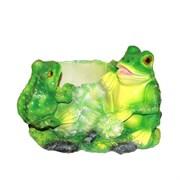 Кашпо декоративное Лягушки на капусте L25W21H18 см.
