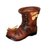 Кашпо декоративное Ботинок с бабочками L22W13H18 см.