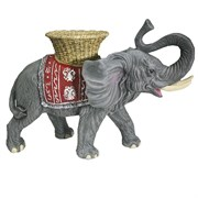 Фигура декоративная Слон с кашпо на спине цвет: акрил L65W32H47см