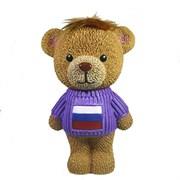 Копилка Плюшевый мишка в свитере флаг L15W18H28см