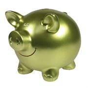 Копилка Свинка цвет: салатовый L15.5W12H11.5см