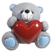 Копилка Мишка с сердцем цвет: серый L22W18H19 см