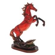 Фигурка декоративная Конь цвет: красный L30W15H40см