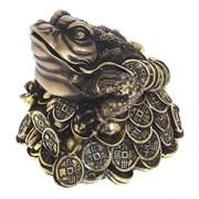 Фигура декоративная Лягушка цвет: золото L14W15H14см