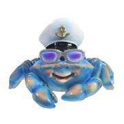 Фигура Краб в очках цвет: синий L20W26H18см