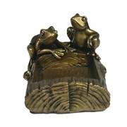 Лягушки на бревне цвет: золото L14.5W11H9