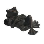 Фигура декоративная Лягушка отдыхает цвет: черный L18W9H9см