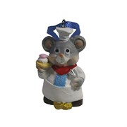 Подвеска Мышонок-повар (серый) L2 W1,5 H5 см