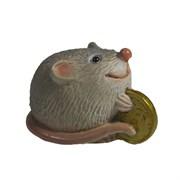 Фигурка декоративная Денежная Мышка (серый) L5,5 W3,5 H3,5 см