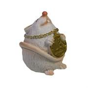 Фигурка декоративная Мышка с подвеской 1 рубль (белый) L4,5 W4 H5,5 см