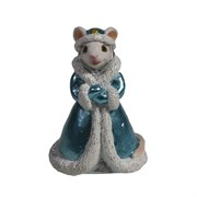 Фигурка декоративная Мышка Елизавета (белый) L4 W4 H6 см