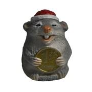 Фигура декоративная Крыса с рублем (серый) L4W4H5