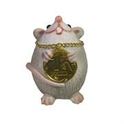 Фигура декоративная Мышка с рублем (серый) L4W4H6