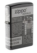 Зажигалка Zippo Classic с покрытием Black Ice® 49049