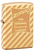 Зажигалка Zippo Vintage Box Top с покрытием High Polish Brass 49075