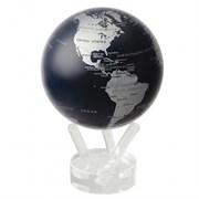 Глобус самовращающийся MOVA GLOBE d12 см с  политической картой Мира, цвет т. синий с серебром