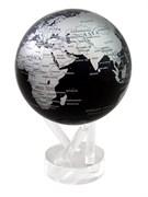 Глобус самовращающийся MOVA GLOBE d16,5 см с  политической картой Мира, цвет синий/серебро