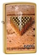 Широкая зажигалка Zippo Bullets 28674