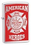 Широкая зажигалка Zippo American Hero Firefighter 24354