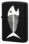 Широкая зажигалка Zippo Fish bones 218