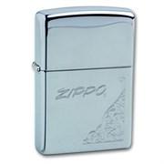 Широкая зажигалка Zippo Corner Floral 260