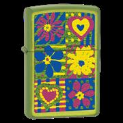 Широкая зажигалка Zippo Hearts and flowers 28057