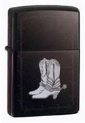 Зажигалка широкая Zippo Silver Boots 20280