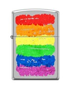 Зажигалка Zippo Радуга c с покрытием Satin Chrome™ 205_rainbow