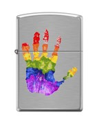 Зажигалка Zippo Ладонь с покрытием Brushed Chrome 200_palm
