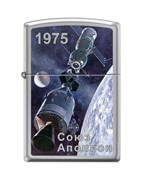 Зажигалка Zippo Союз-Аполлон с покрытием High Polish Chrome 250_Soyuz-Apollo