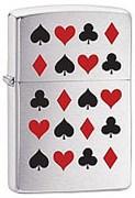 Зажигалка широкая Zippo Card Suits 20374