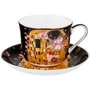 """Чайный набор на 1 персону """"Поцелуй""""  2 пр. 500 мл черный (кор=18 шт)"""