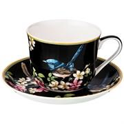 """Чайный набор на 1 персону """"Цветущий сад"""" 2 пр. 500 мл черный"""