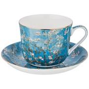 """Чайный набор """"Цветущие ветки миндаля""""  на 1 персону 2пр.500 мл (кор=18наб.)"""