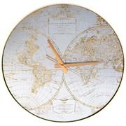 """Часы настенные кварцевые """"Карта мира"""" 45*45*5,5 см"""