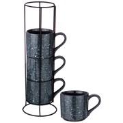 """Набор чашек из 4  шт на металлической подставке коллекция """"Лимаж"""" чашка объем =297 мл"""