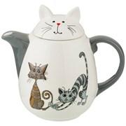 """Заварочный чайник коллекция """"Озорные коты"""" 1000 мл 19,5*12,5*17,6 см"""