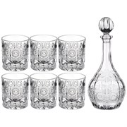 "Набор для виски ""Muza crystal"" 7пр.: штоф + 6 стаканов 950/300 мл"