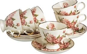"""Чайный набор на 6 персон 12 пр. """"Корейская роза"""" 250 мл под.упаковка"""