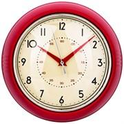 """Часы настенные кварцевые """"Lovely home"""" D=23 см цвет:красный"""