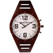 """Часы настенные кварцевые """"Watch"""" цвет:черный 41*26 см циферблат 20,5 см"""