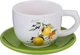 """Чашка с блюдцем """"Итальянские лимоны"""" 210 мл"""