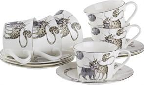 "Чайный набор ""Котики"" на 6 персон 12 пр. 200 мл"