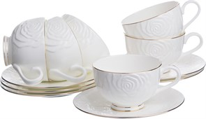 "Чайный набор ""Blanco"" на 6 персон 12 пр. 250 мл H=6,5 см"