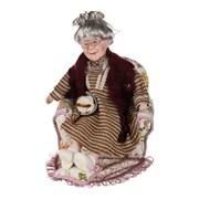 """Кукла фарфоровая декоративная """"Бабушка в кресле"""" 27*23*33 см"""