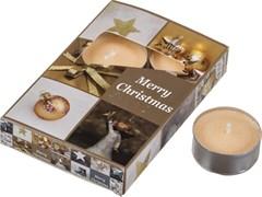 """Набор плавающих свечей из 6  шт """"merry christmas"""" D=4 см H=2 см"""