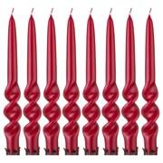 Набор свечей из 8  шт 23,5/2,2 см лакированный бордовый